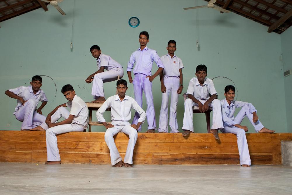 Collégiens au Sri Lanka
